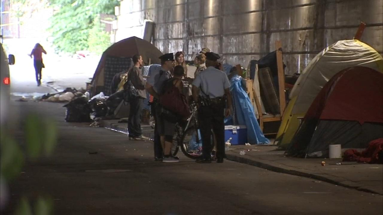 Mass eviction at Kensington homeless encampments