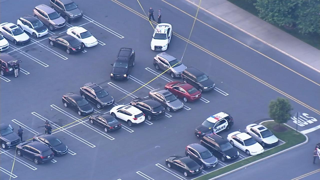 Chopper 6 over shooting scene at Lehigh Valley Mall