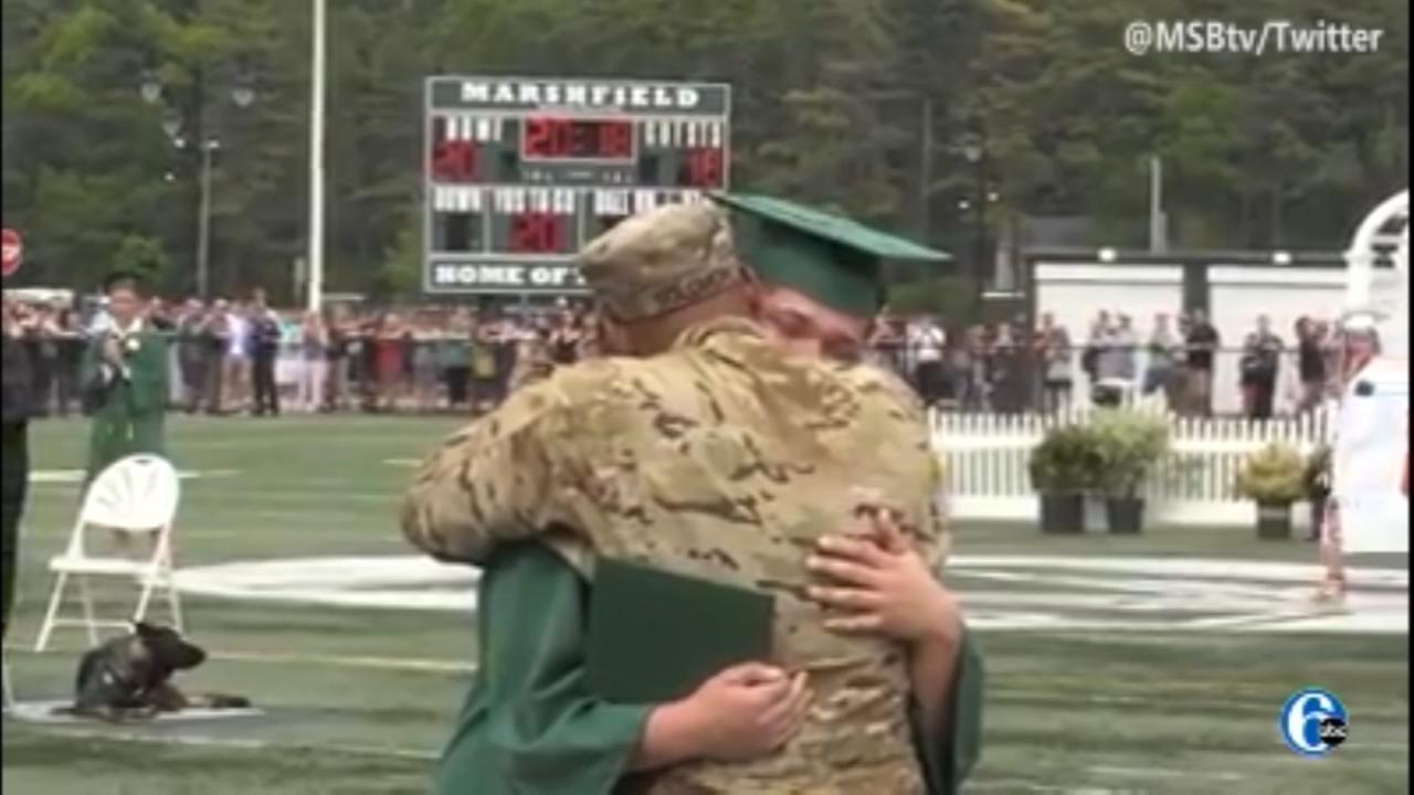 Army Sgt. surprises son at high school graduation