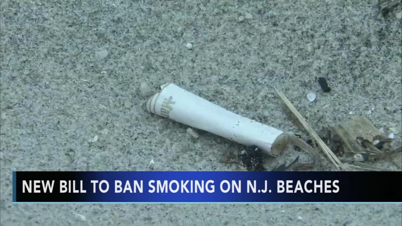 New bill to ban smoking on NJ beaches