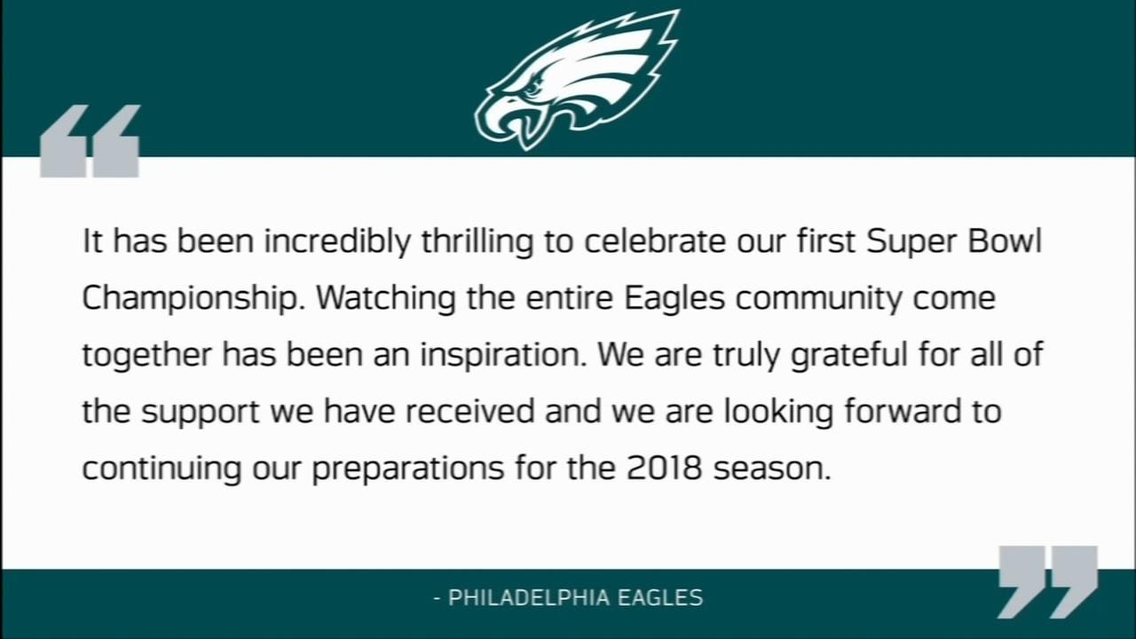 Eagles respond after Trump cancels visit