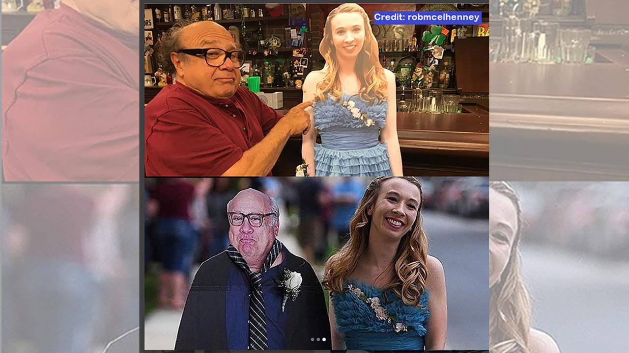 Danny DeVito takes cutout of Pa. prom girl to 'Always Sunny' set