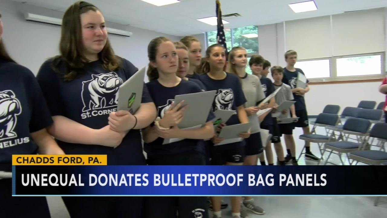 Pa. students given bullet proof backpack panels