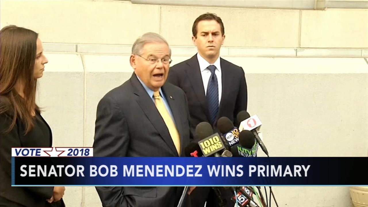 Menendez wins primary