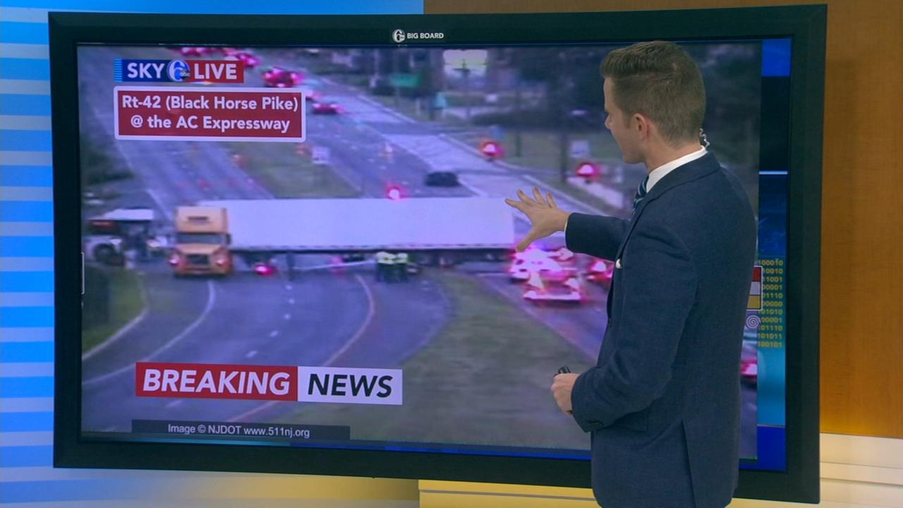 Tractor trailer stopped across Black Horse Pike