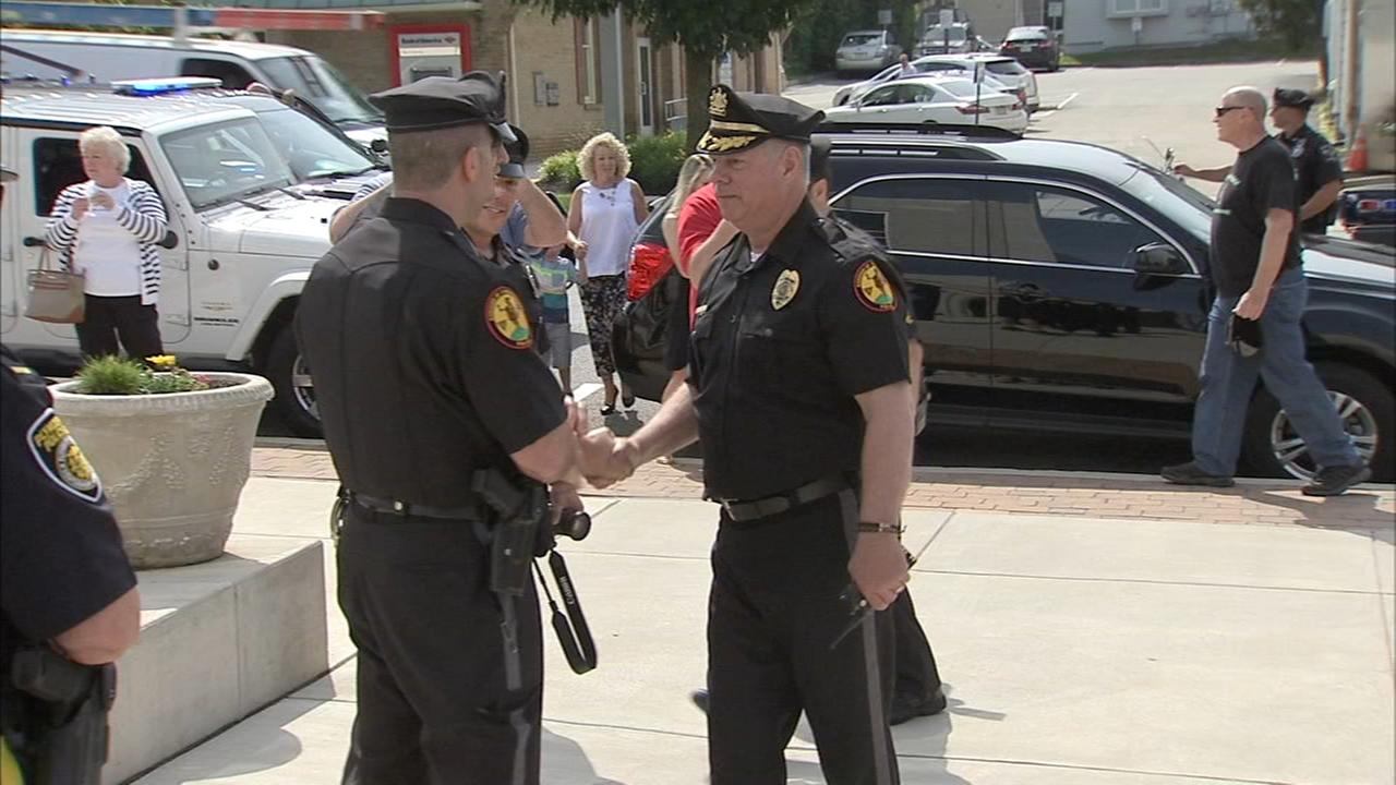 Top cop takes his final ride as Conshohockens police chief