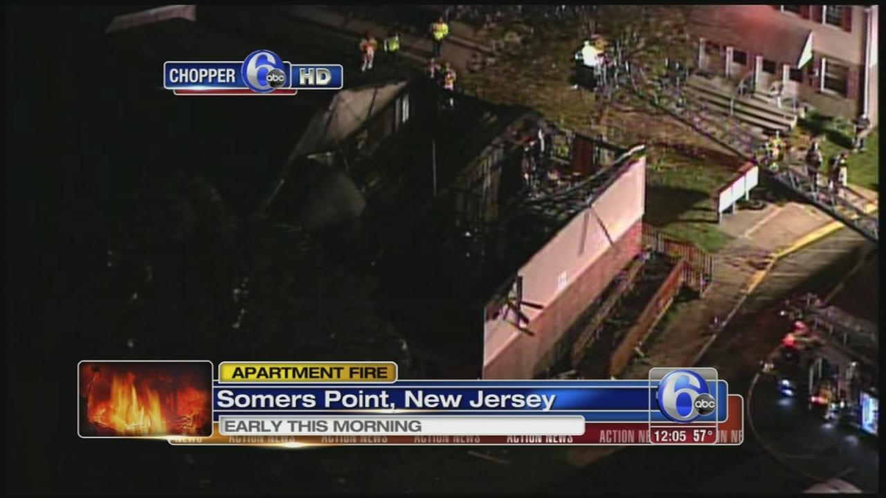 VIDEO: Four families displaced in Somers Point fire