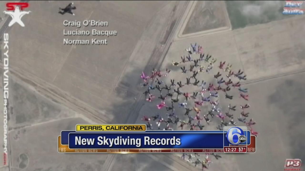 VIDEO: Women break new skydiving record