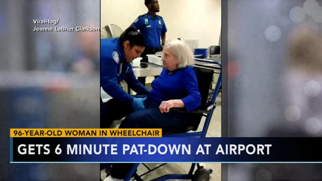 Viral video of TSA patting down elderly woman sparks outrage