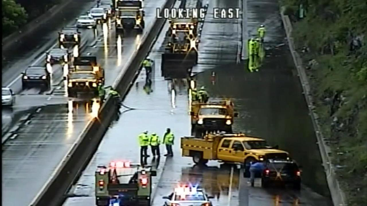 PennDOT: Clogged pipe caused I-76 flooding