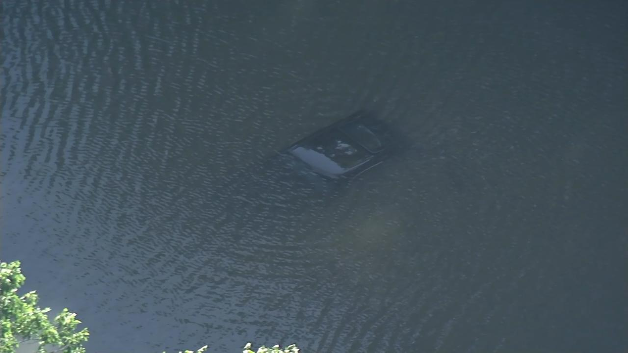 Driver rescued after car plunges into Upper Merion