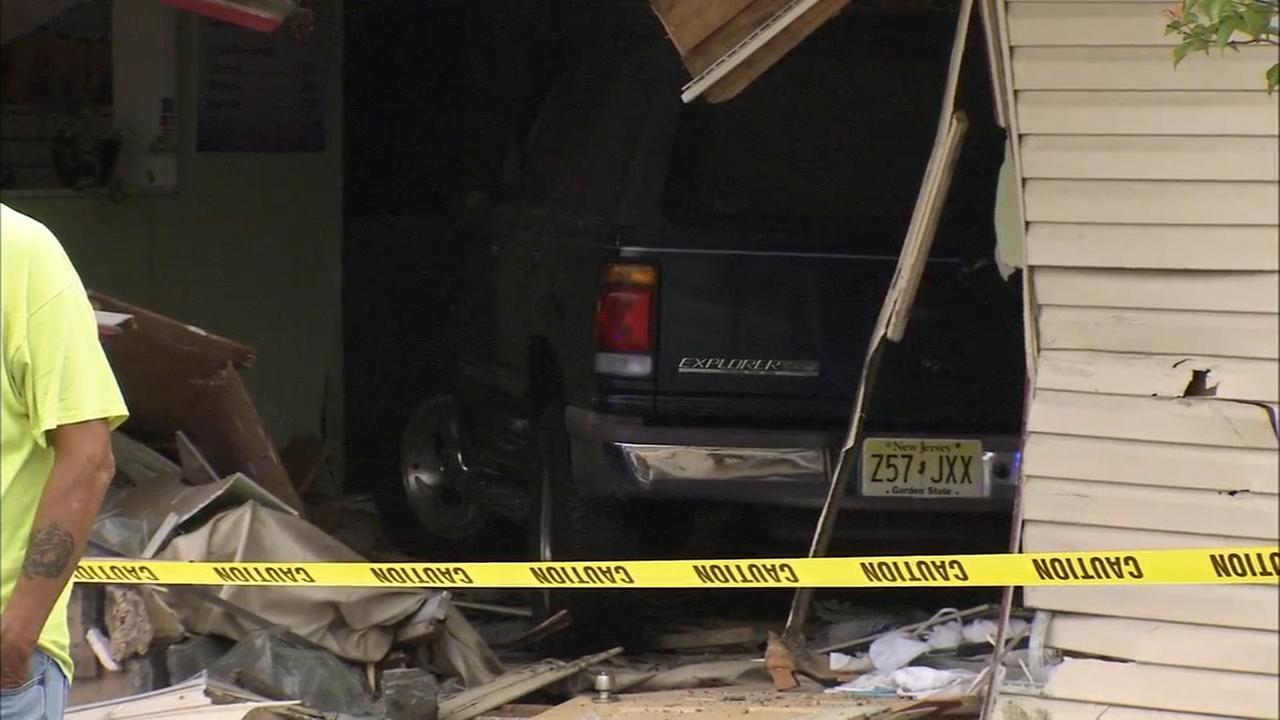 SUV slams into massage parlor on Black Horse Pike