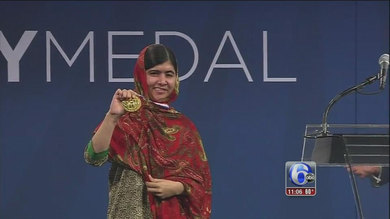 VIDEO: Malala receives Liberty Medal