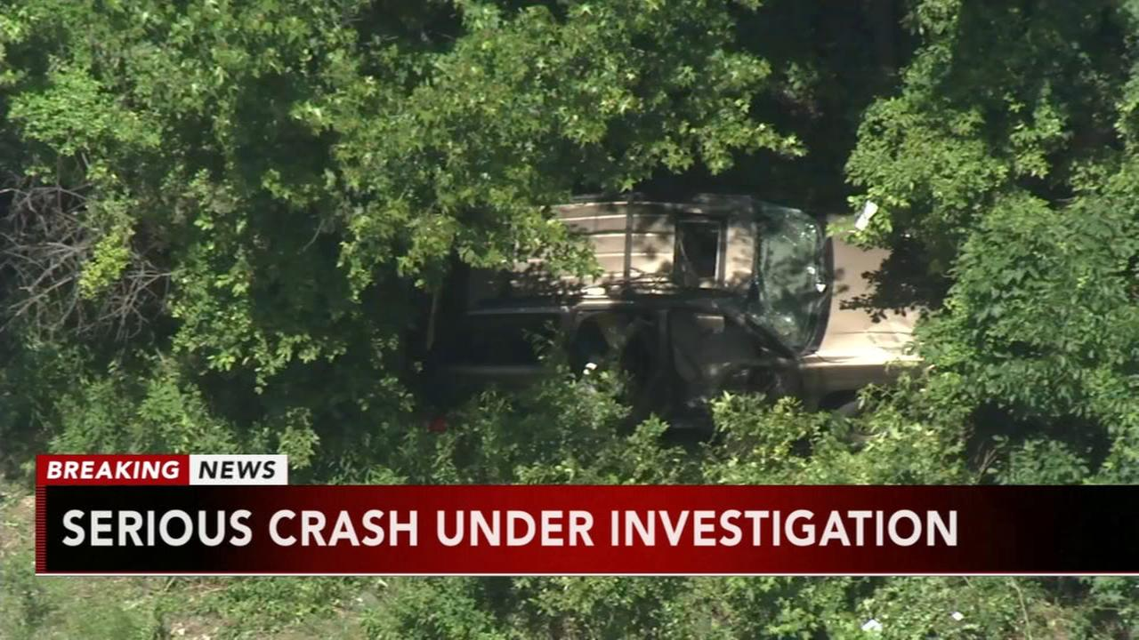 SUV crashes in woods off Route 1 SB in Falls Township