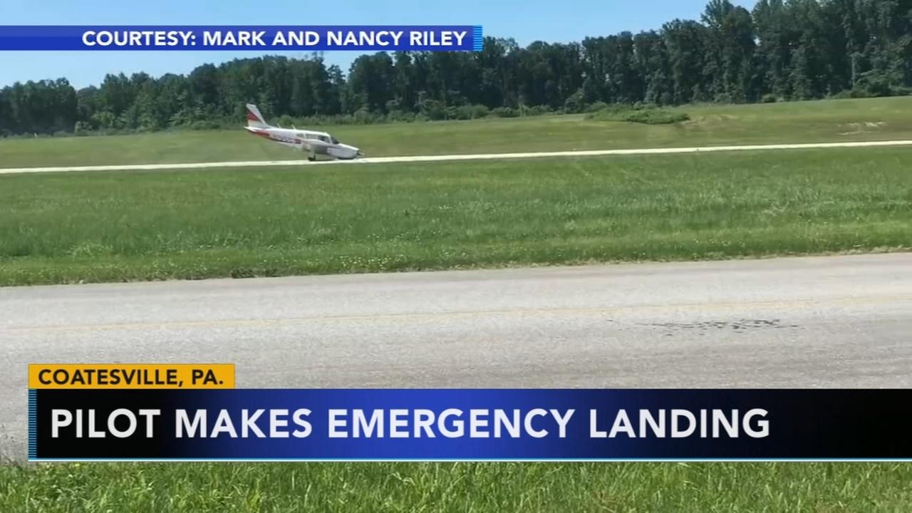 Dramatic video of emergency landing in Chester County