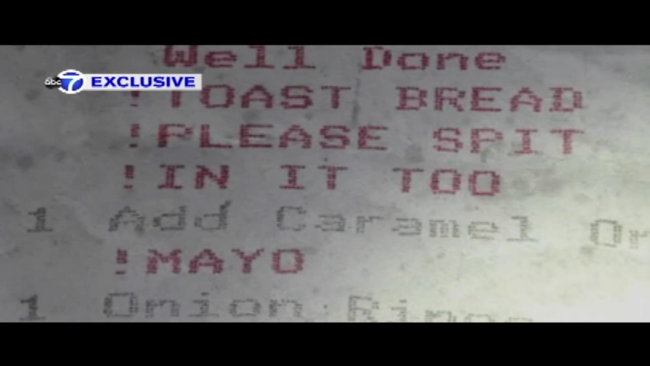 Restaurant receipt says to spit in food