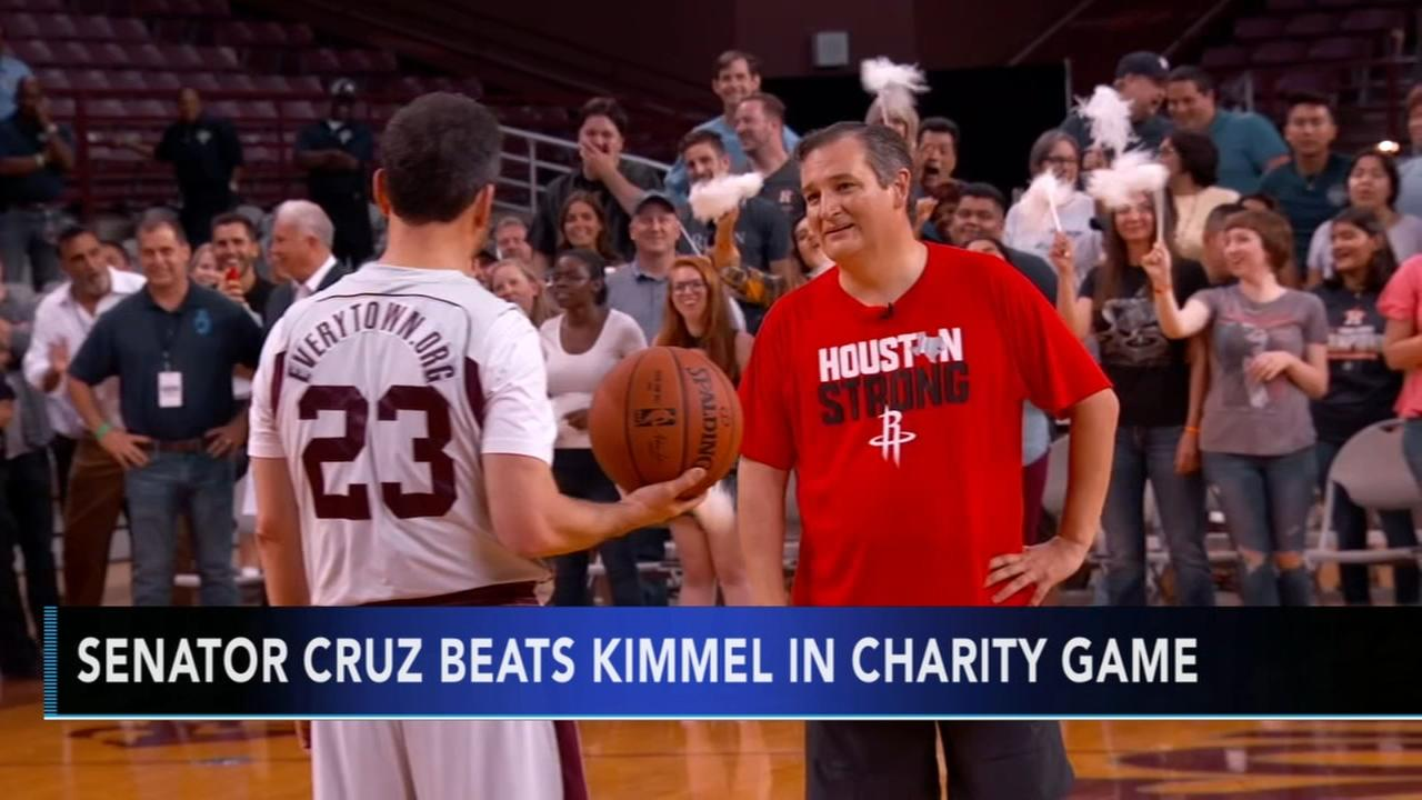 Jimmy Kimmel beat by Sen. Ted Cruz in charity game