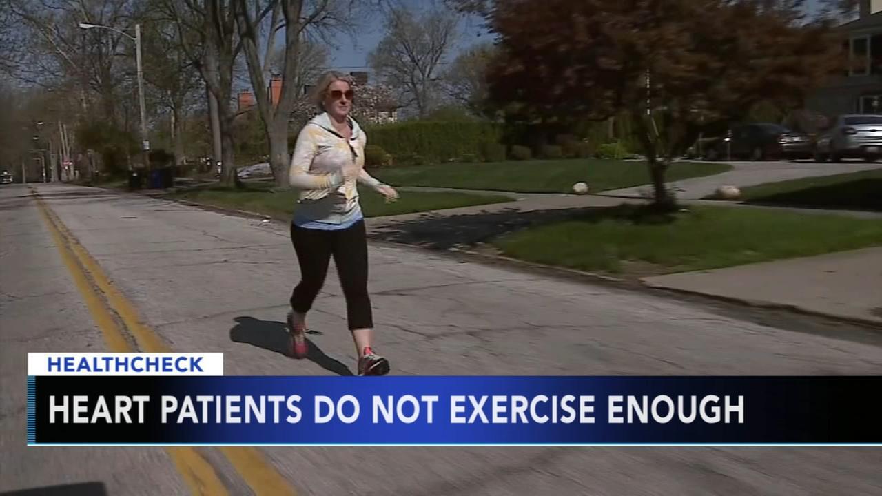 Study: Heart patients dont exercise enough