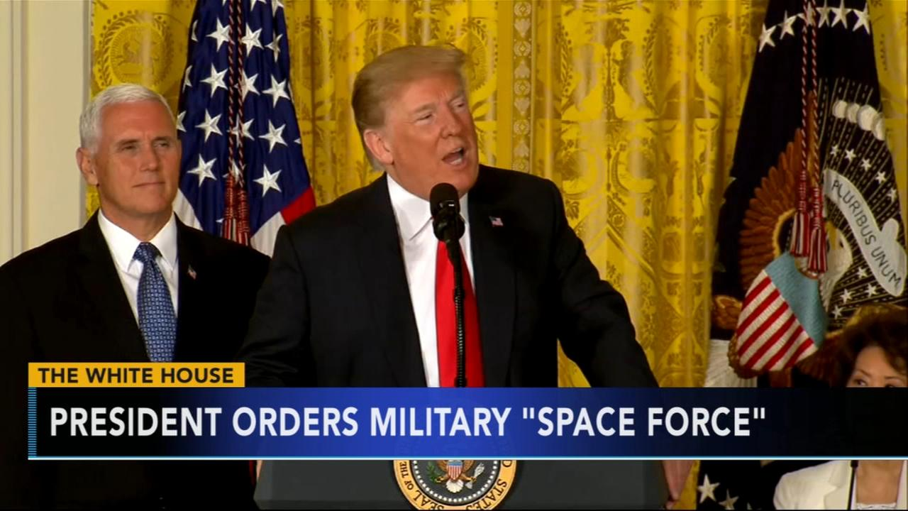Trump announces plans for Pentagon to create Space Force