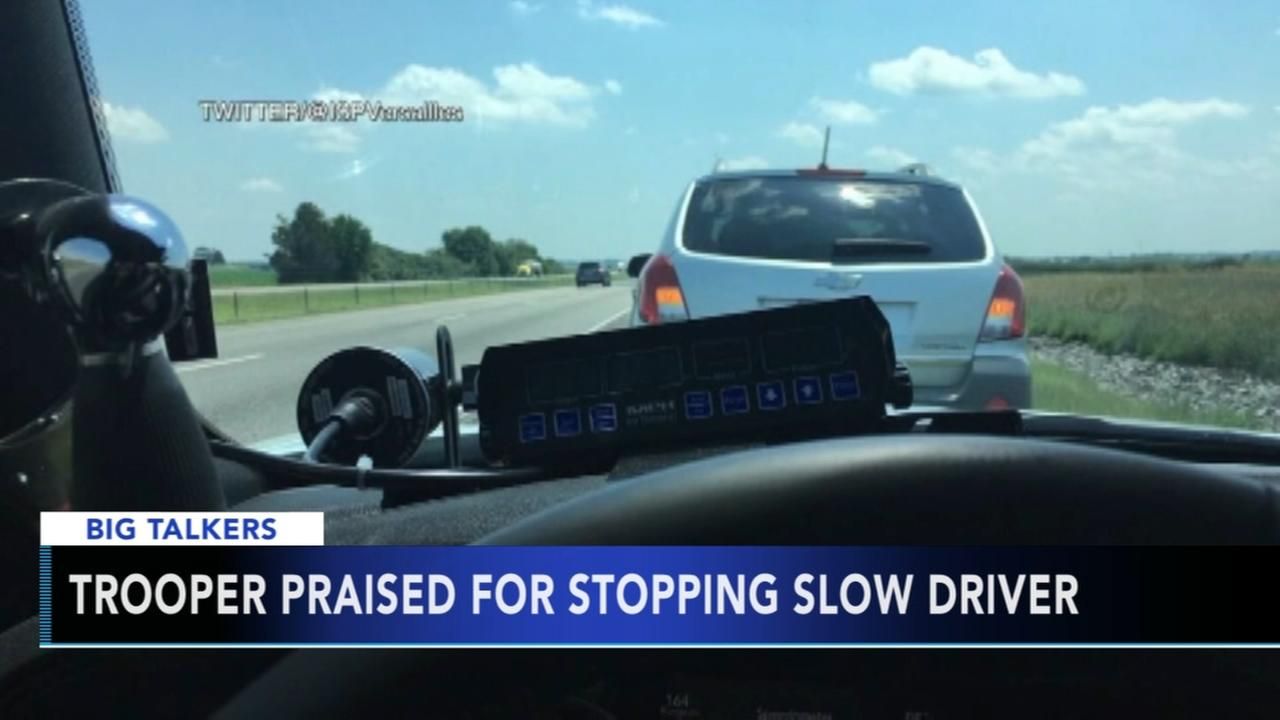 Trooper praised for stopping slow driver