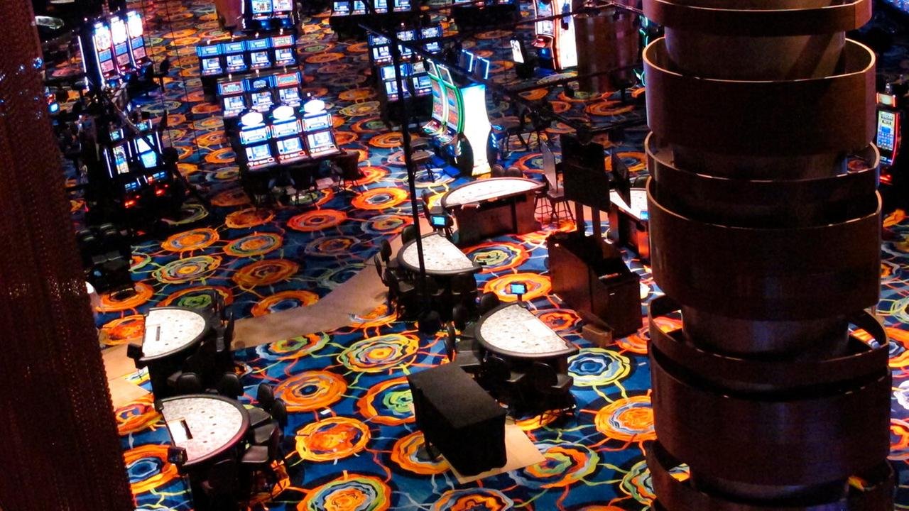 This June 12, 2018 photo shows the reconfigured casino floor inside the Ocean Resort Casino as the former Revel property prepares to reopen under a new owner on June 28.
