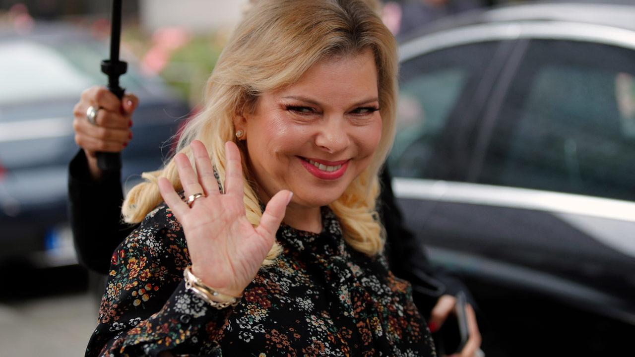 Wednesday, June 6, 2018, Israels Prime Ministers wife Sara Netanyahu arrives for the meeting with French Finance Minister Bruno Le Maire at Bercy Economy Ministry, in Paris.