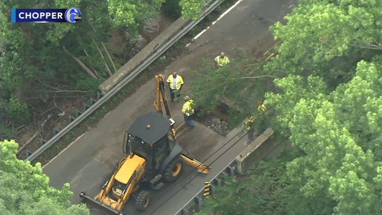 Road closed after hole opens in Mantua Twp. bridge