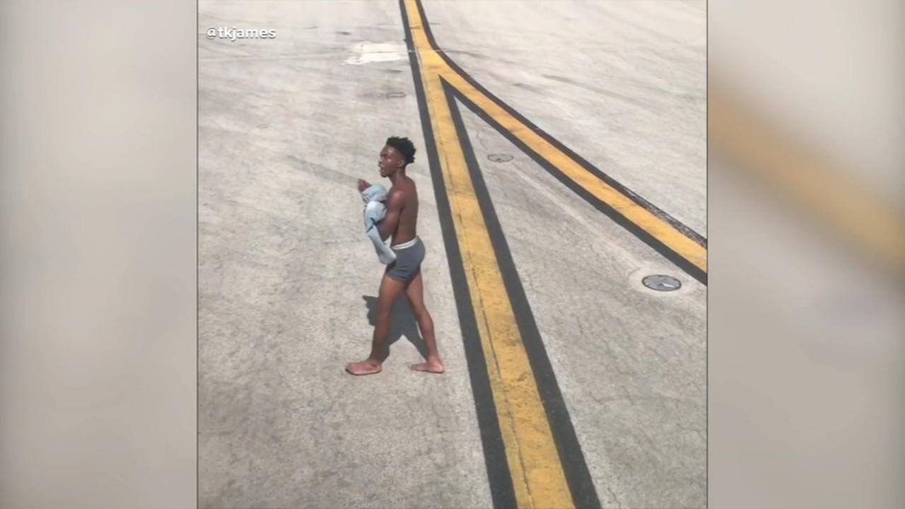 Half-naked man causes disturbance at Atlanta airport
