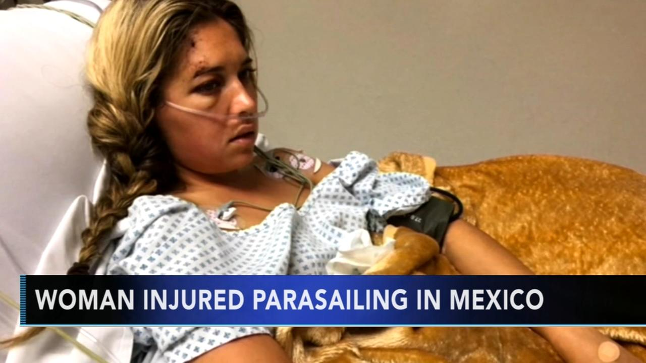 Woman injured parasailing in Mexico