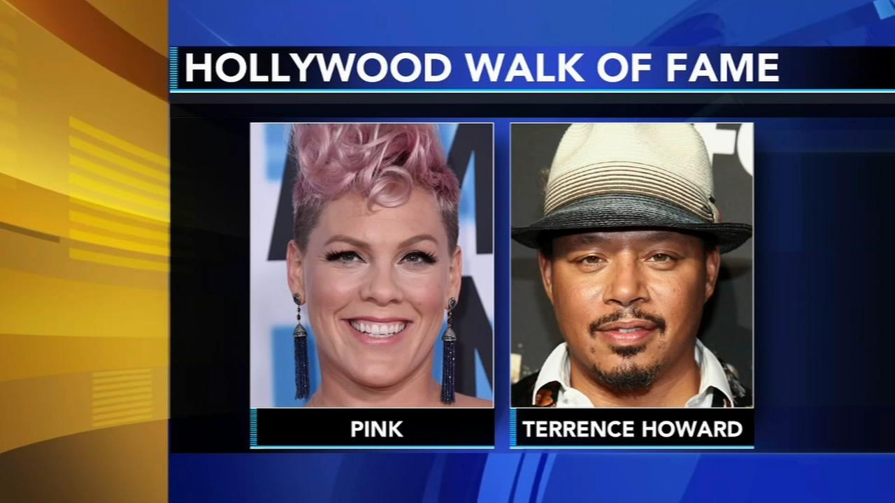 Pink, Terrence Howard to be honored on Walk of Fame