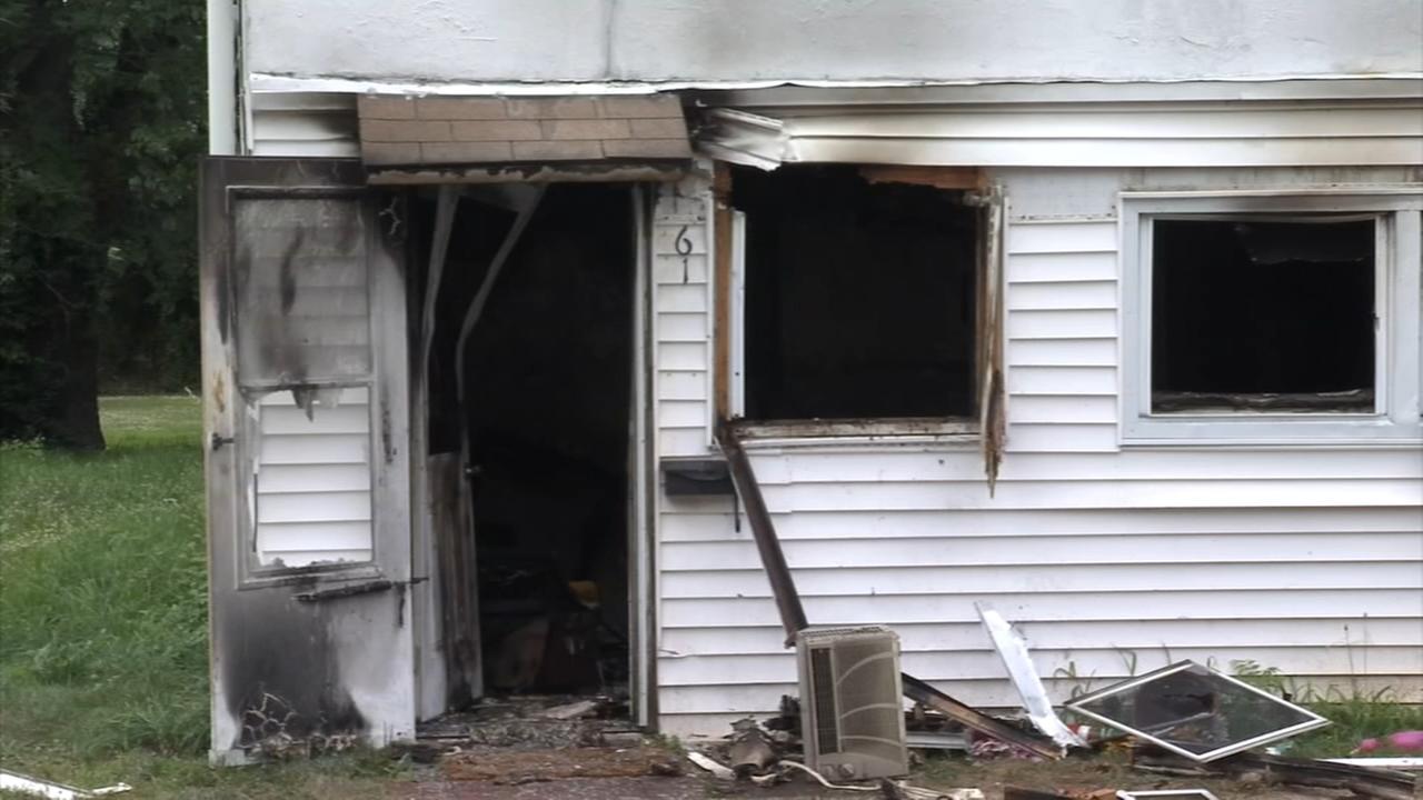 Crews battle house fire in Salem County