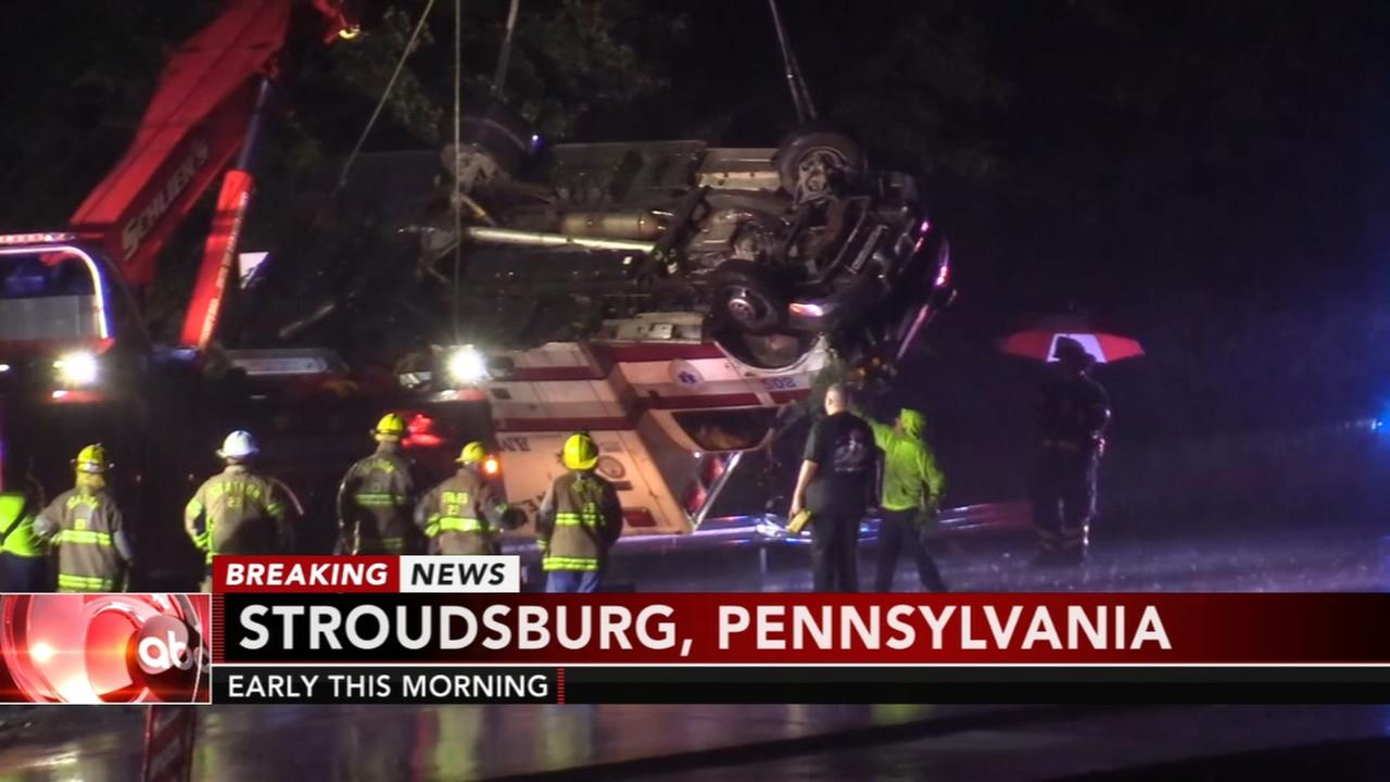 3 injured in Stroudsburg ambulance crash