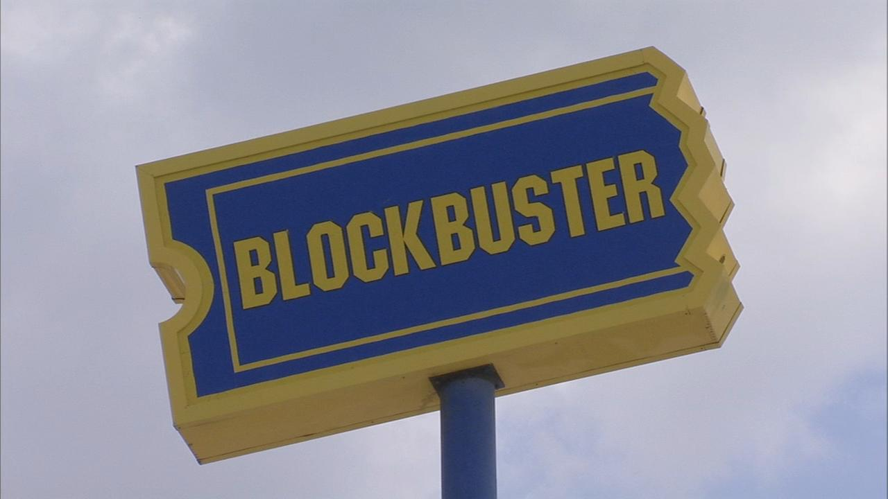 Action Cam: Blockbuster sign in South Philadelphia