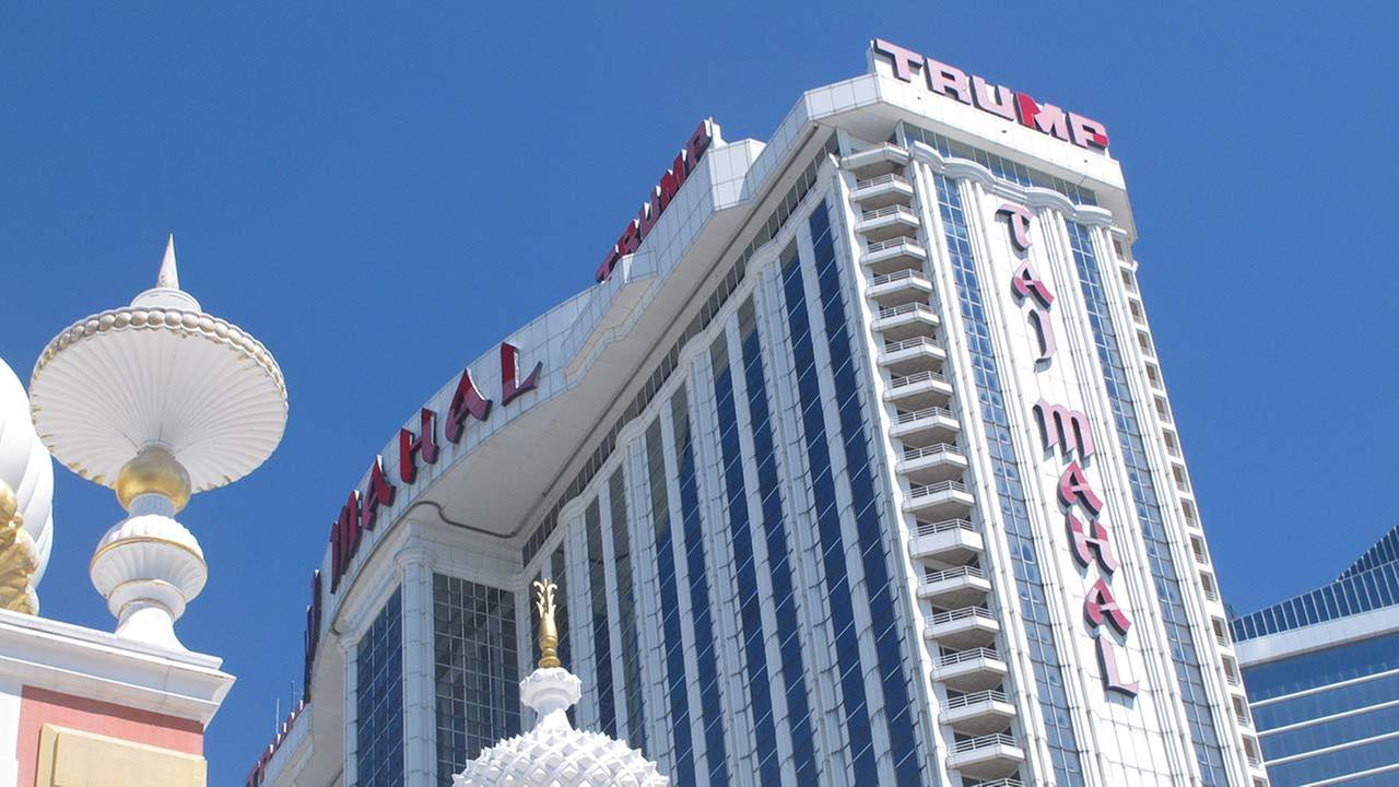 This Aug. 4, 2016 photo shows the exterior of the Trump Taj Mahal casino in Atlantic City, N.J.