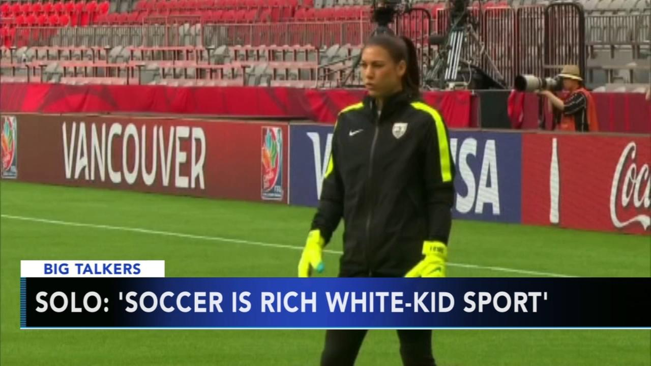 Hope Solo calls US soccer a rich white kid sport