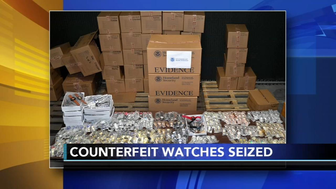 Custom officers seize counterfeit watches in Philly