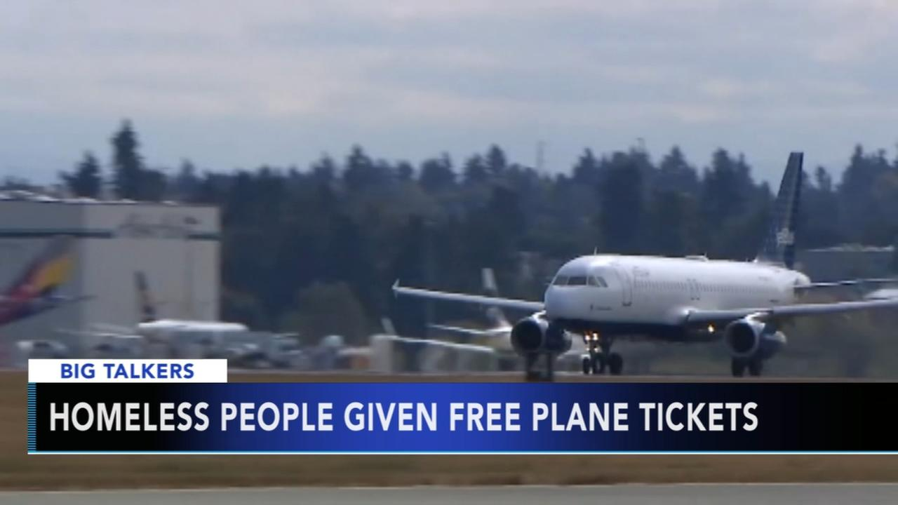 Homeless given free plane tickets in Seattle