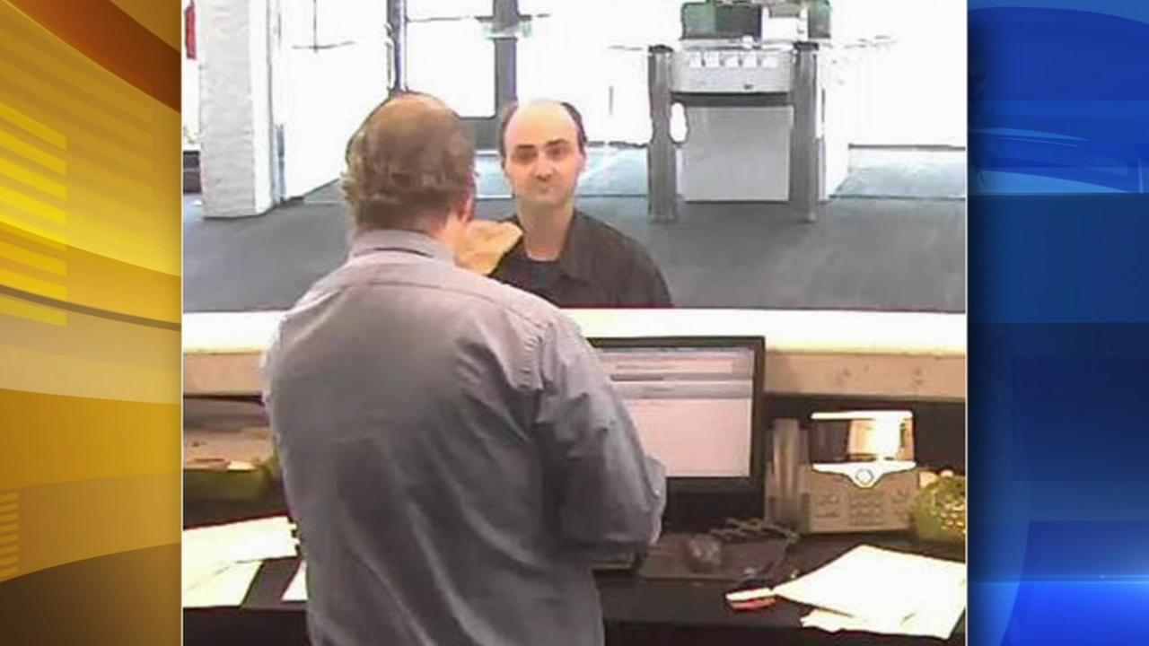 Suspect sought for bank robbery at the Jersey Shore