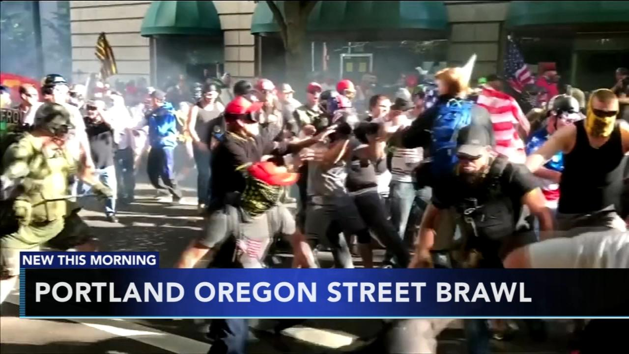 Rally turns violent in Portland, Oregon