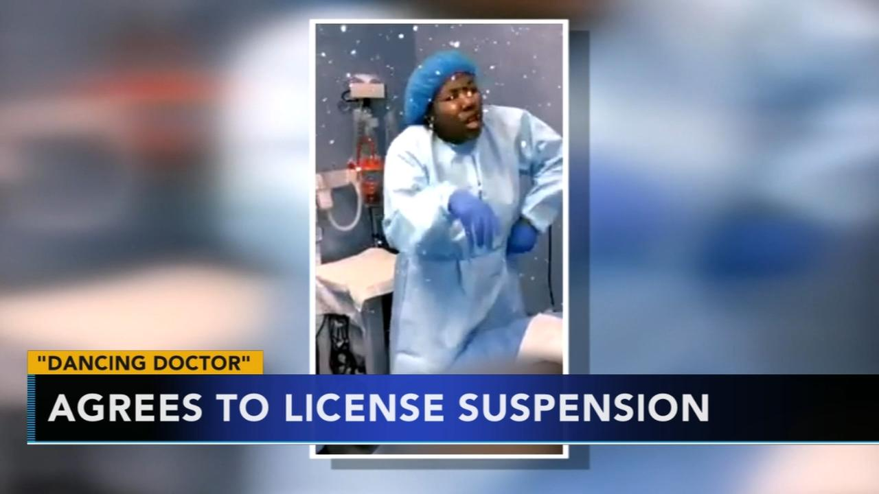 Dancing doctor agrees to license suspension