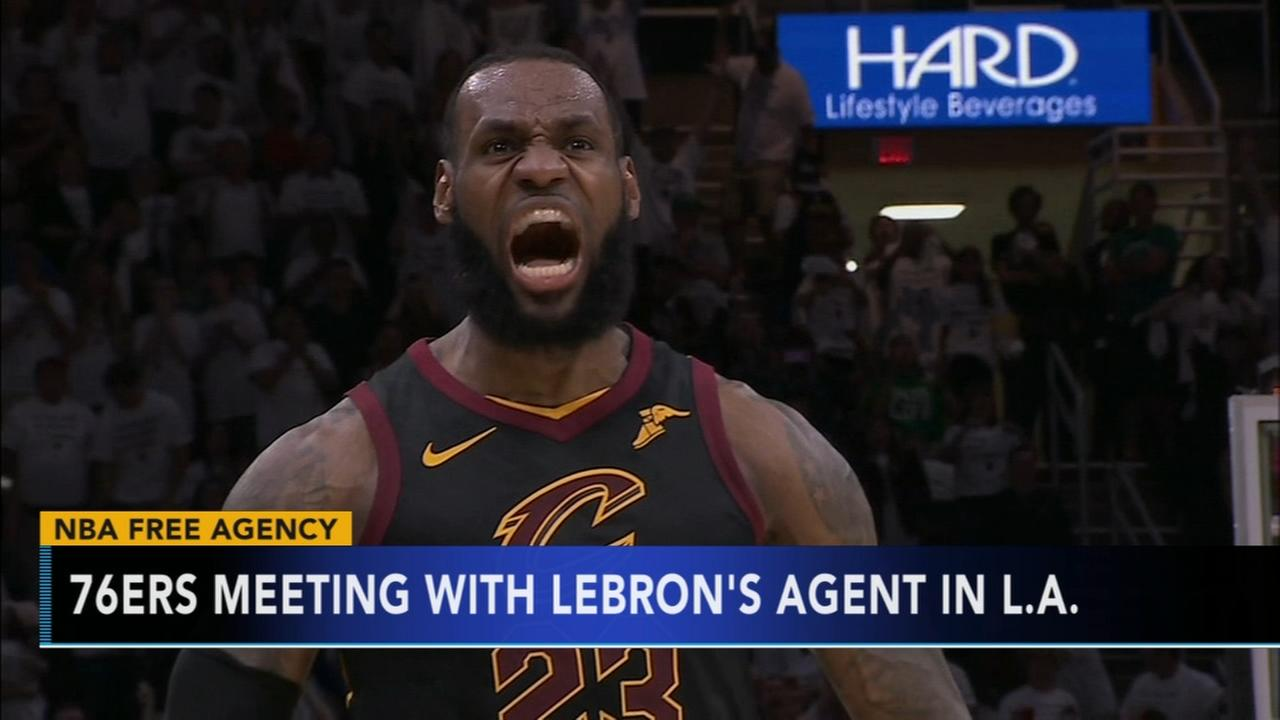 76ers meet with LeBron James agent