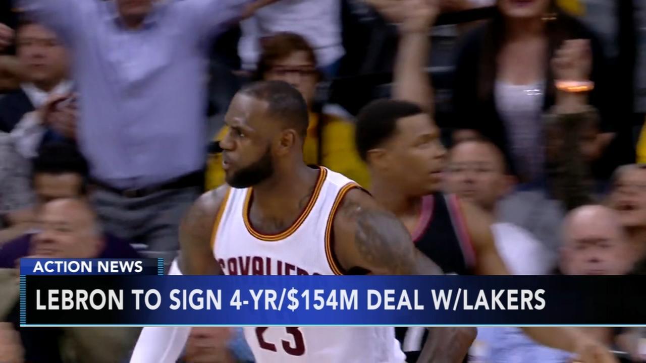 LeBron picks the Lakers