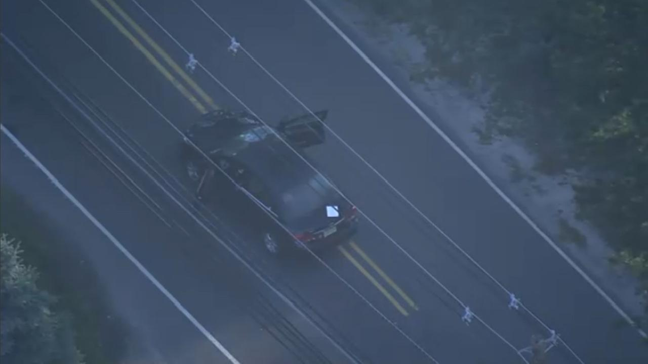 Chopper 6 was over the scene after a pedestrian was struck in Browns Mills, New Jersey on July 2, 2018.