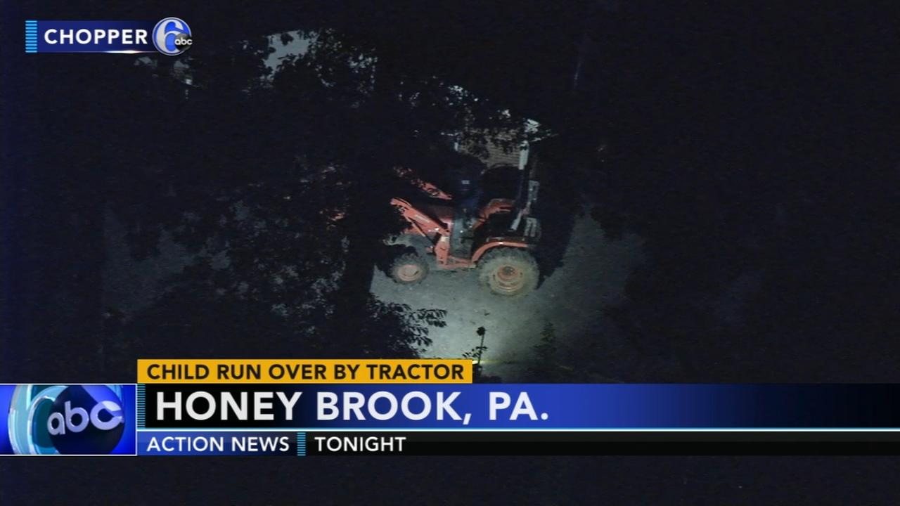 Police say child run over by tractor