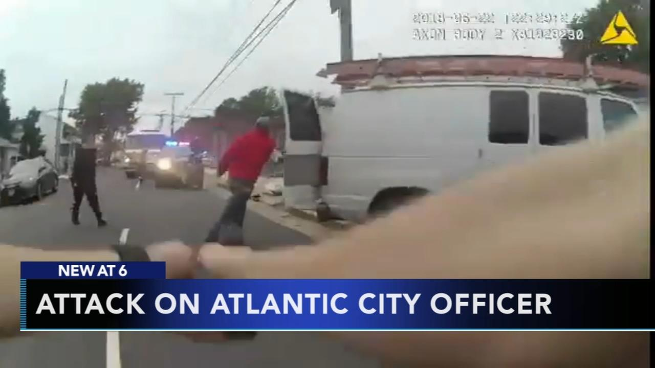 Bodycam video of attack on Atlantic City officer