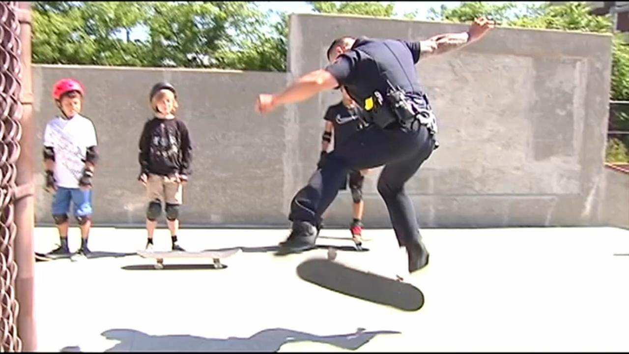 Bethlehem cop uses skateboard skills to connect with kids