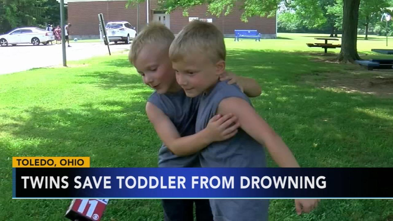 6-year-old twins being hailed heroes for saving 3-year-old from drowning