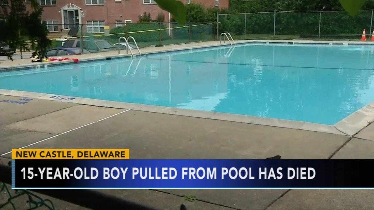 Delaware teen pulled from swimming pool dies