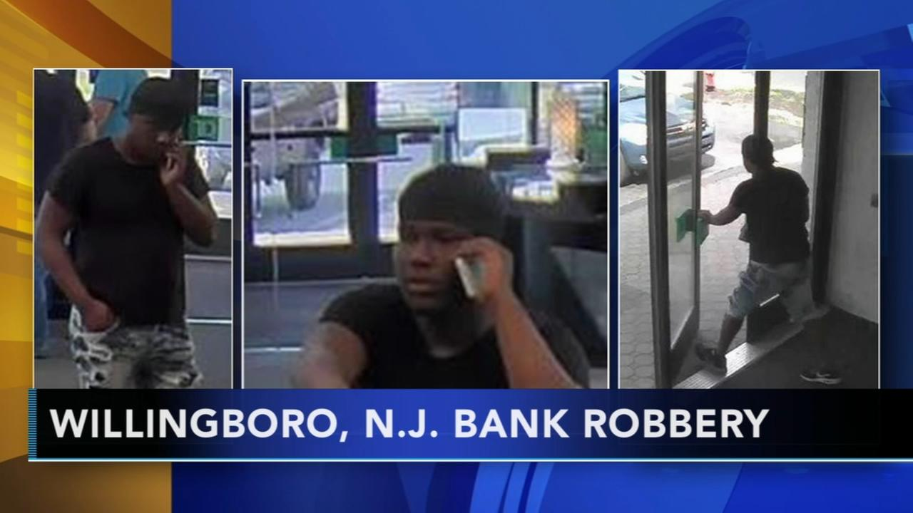 Man sought for robbery at TD Bank in Willingboro