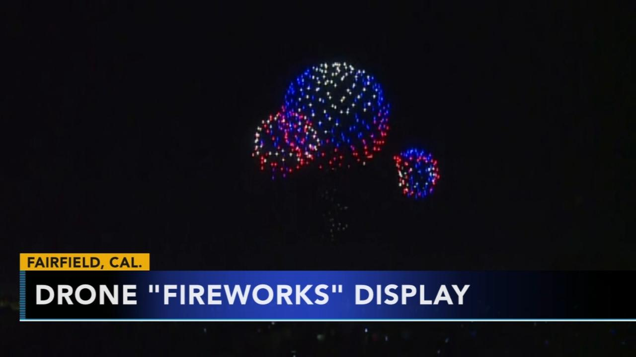 Drone fireworks display lights up California skies on July 4th